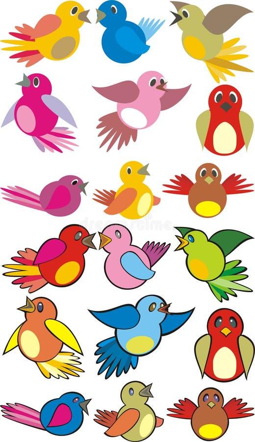 ptaków target340_1_ royalty ilustracja