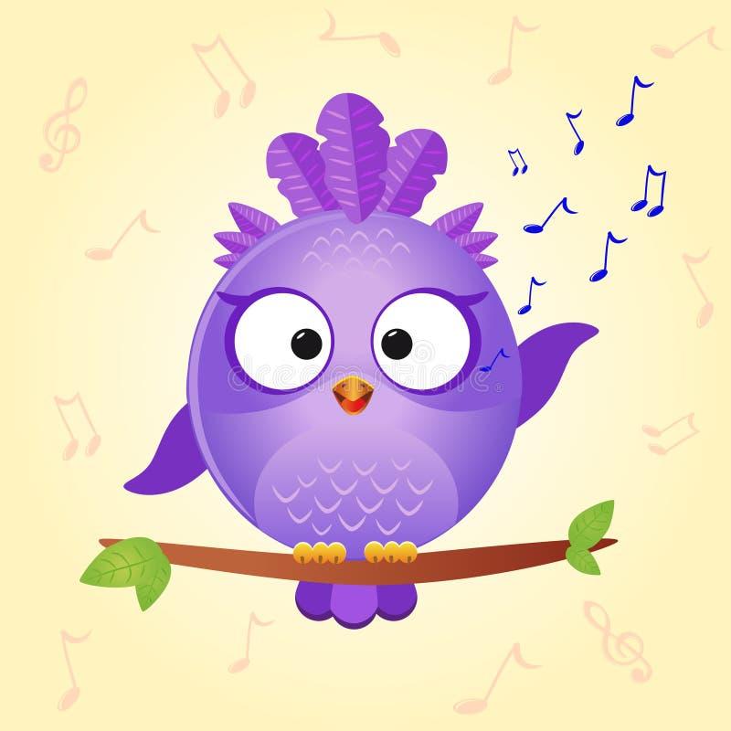 Ptak śpiewa ilustracji