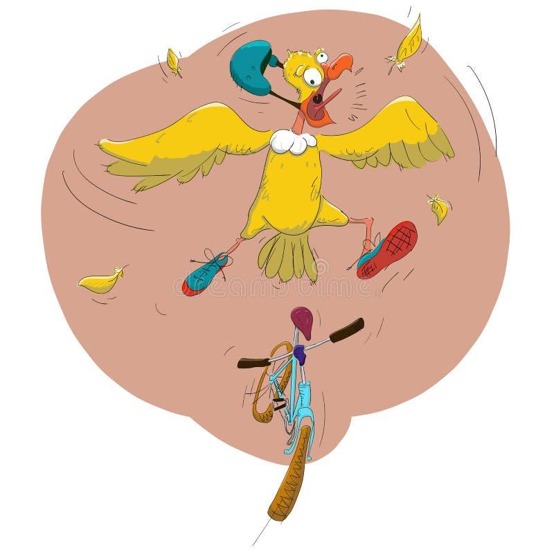 Ptak i bicykl obrazy stock