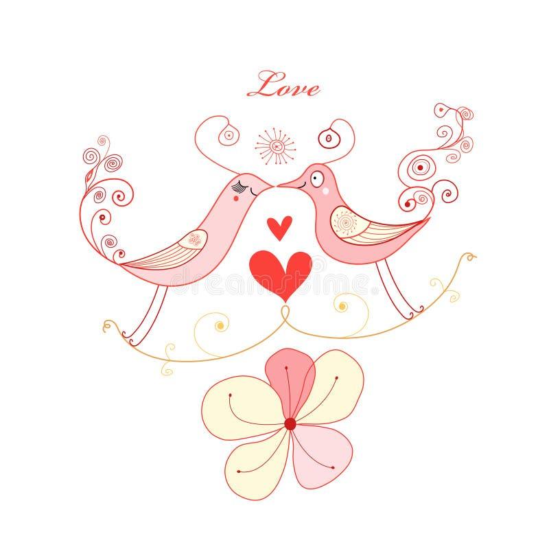 ptak miłość ilustracji