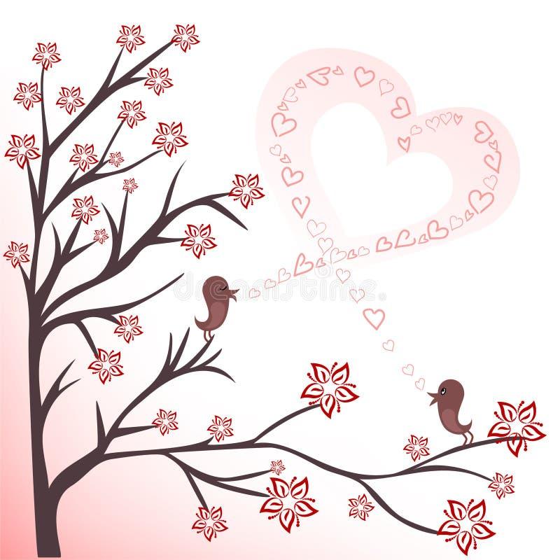 ptak miłość royalty ilustracja
