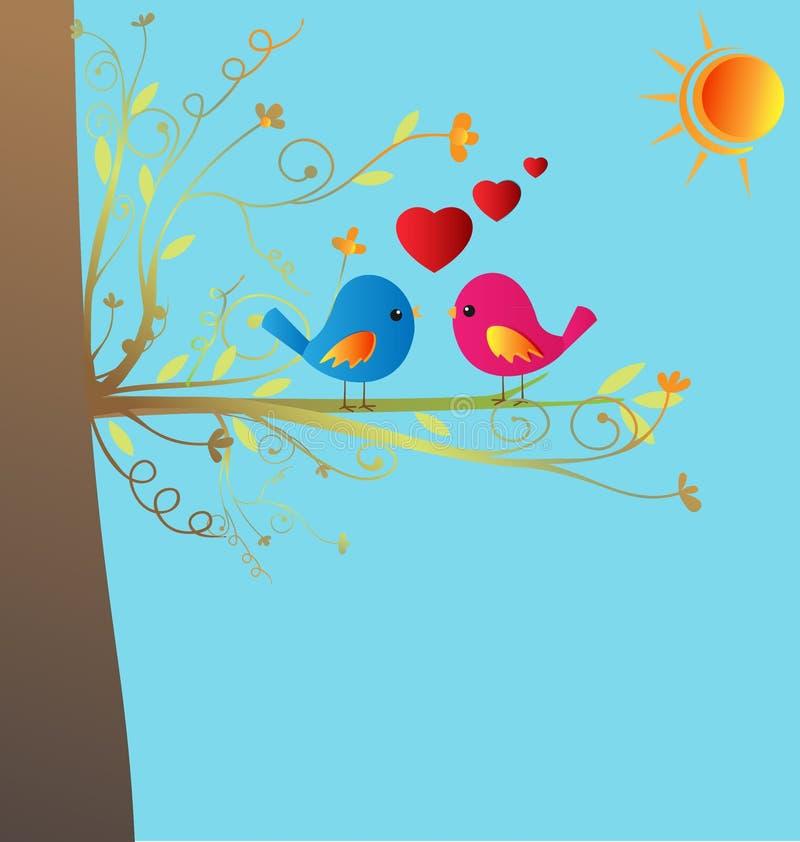 ptak miłość ilustracja wektor