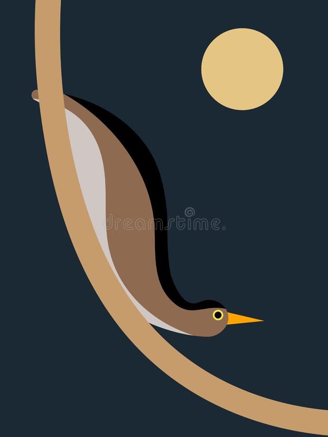 Ptak na gałąź royalty ilustracja