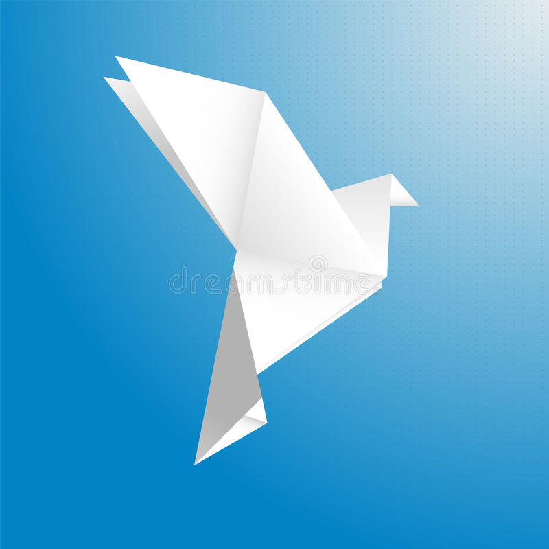 Ptak od papierowego wektoru ilustracji