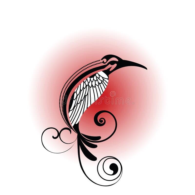 ptak plemienny royalty ilustracja