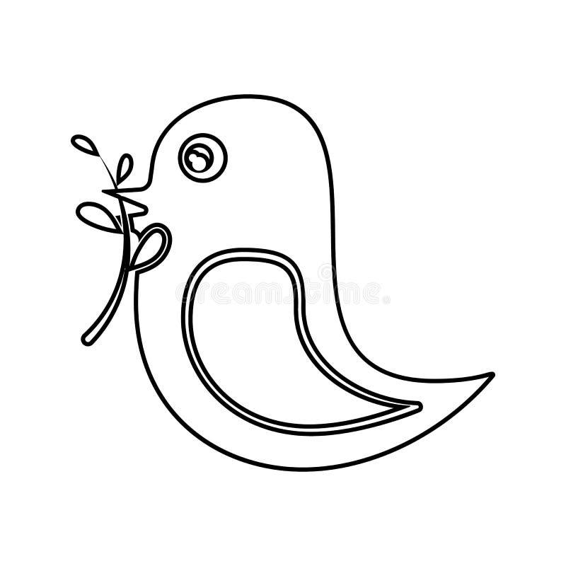 ptak trzyma gałąź w swój belfer ikonie Element cyber ochrona dla mobilnego pojęcia i sieci apps ikony Cienieje kreskową ikonę dla royalty ilustracja