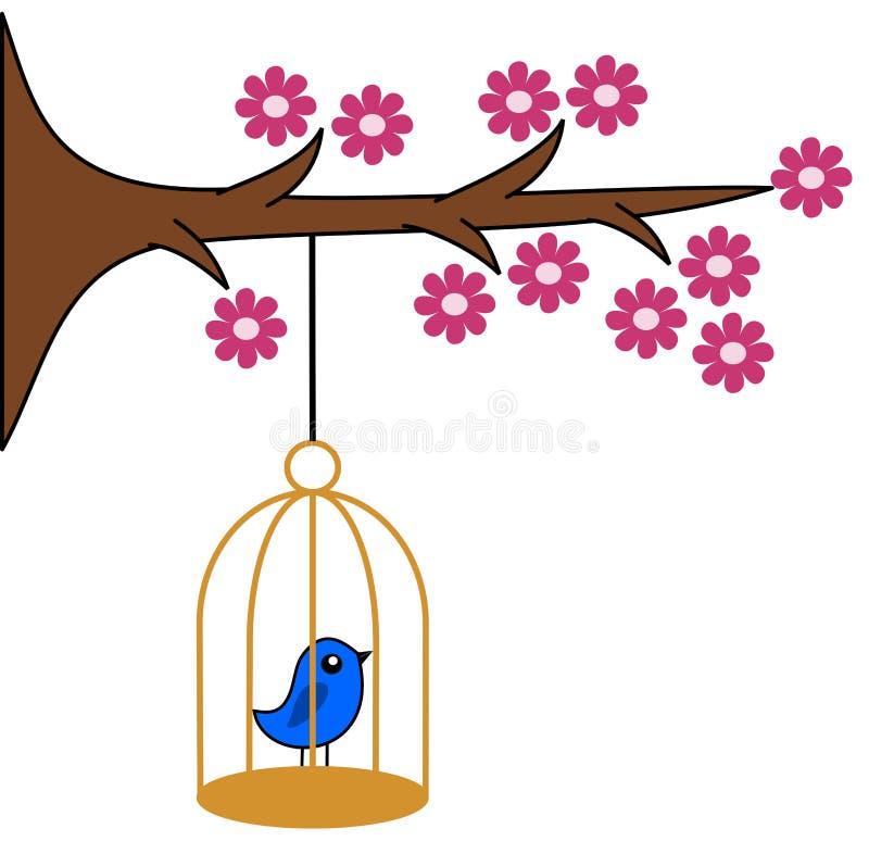Ptak w klatce ilustracji