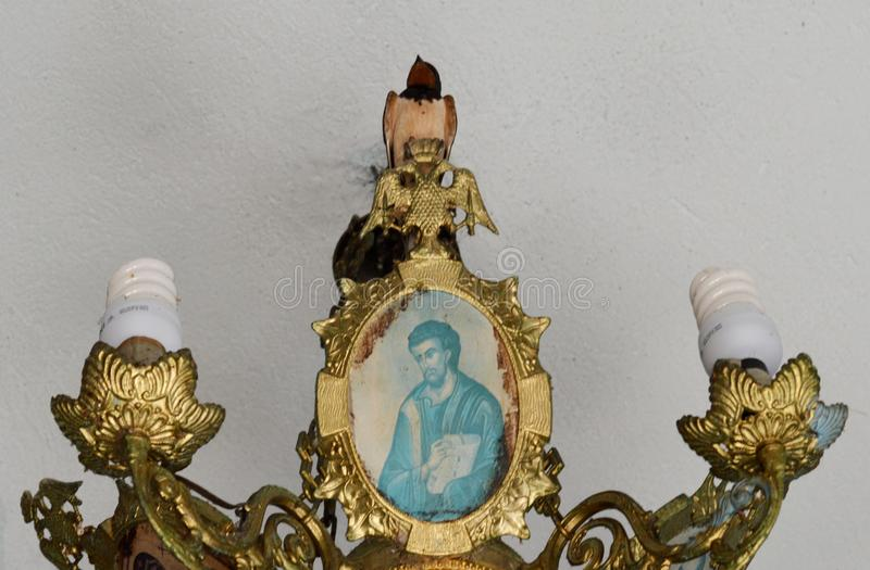 Ptak w kościół fotografia royalty free