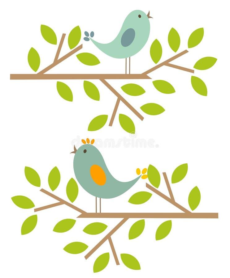 ptak wiosna ilustracja wektor