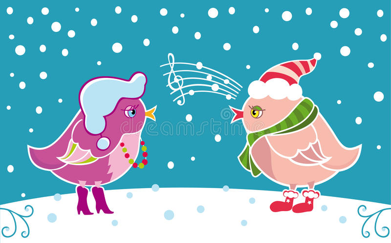 ptak zima royalty ilustracja