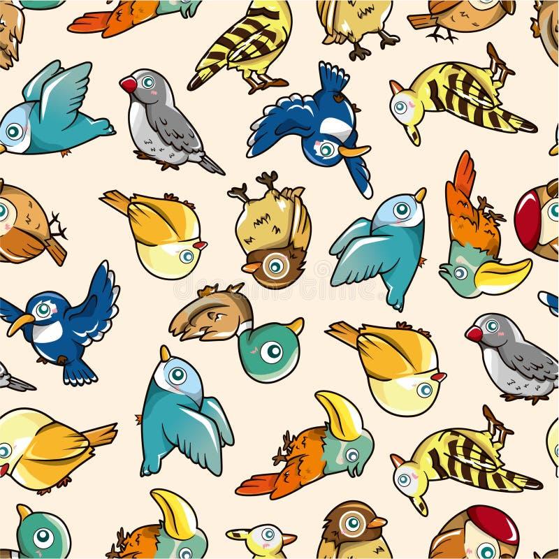 ptaka bezszwowy deseniowy ilustracji