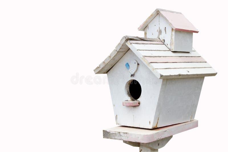 Ptaka drewniany dom, postbox fotografia royalty free