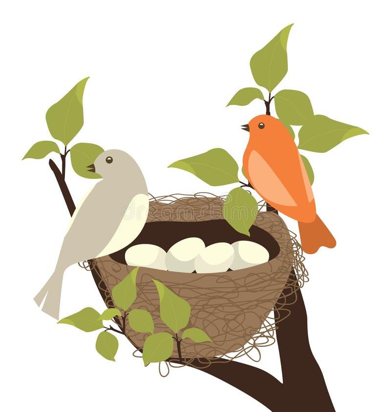 ptaka gniazdeczko ilustracja wektor