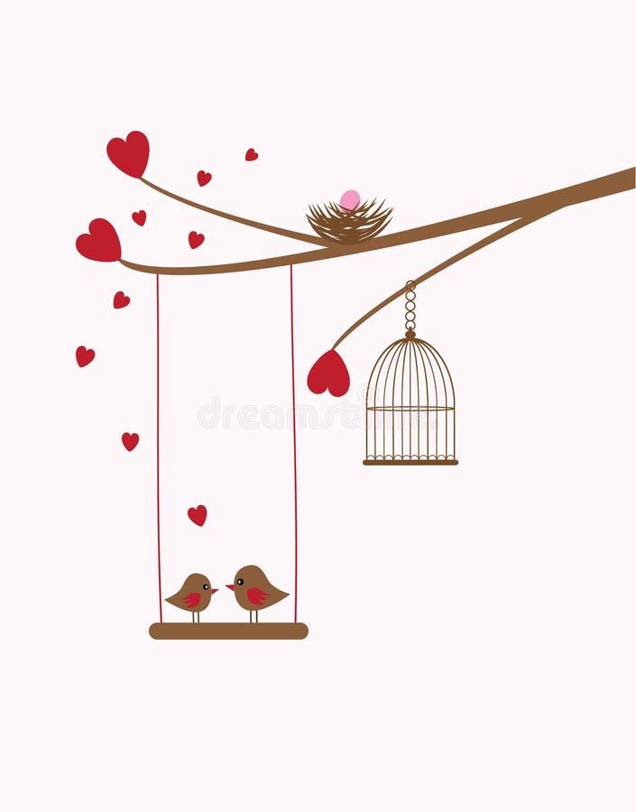 Ptaka gniazdeczko ilustracji