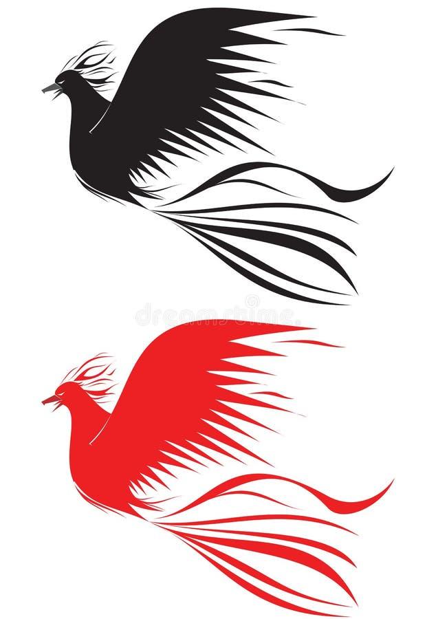 ptaka ogień ilustracja wektor