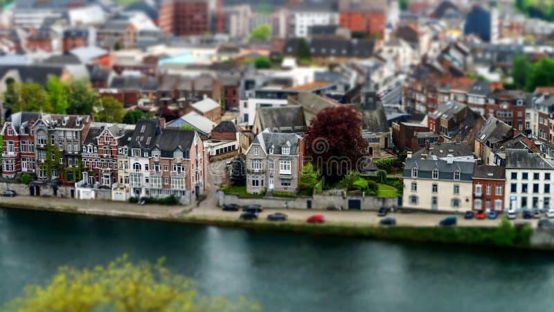Ptaka oka widok Namur zdjęcia royalty free