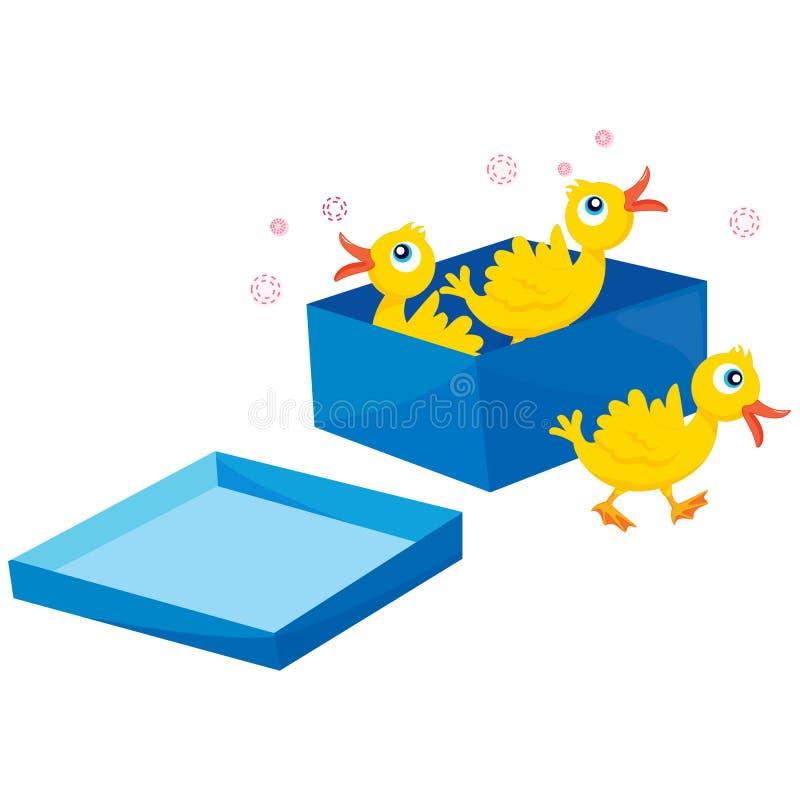 ptaka pudełko ilustracja wektor