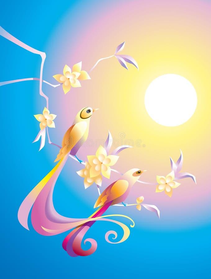ptaka ranek ilustracja wektor