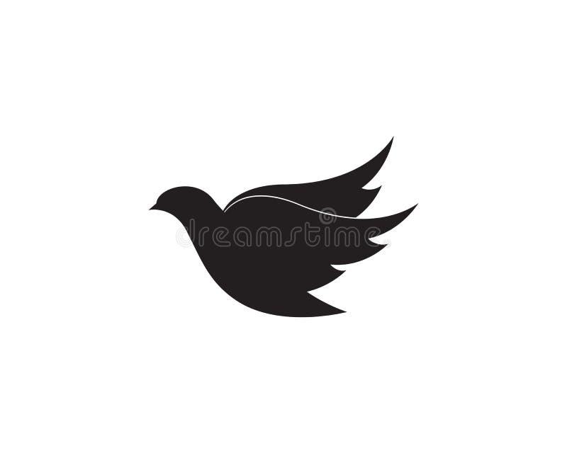 Ptaka skrzydła gołąbki loga szablonu wektor ilustracja wektor