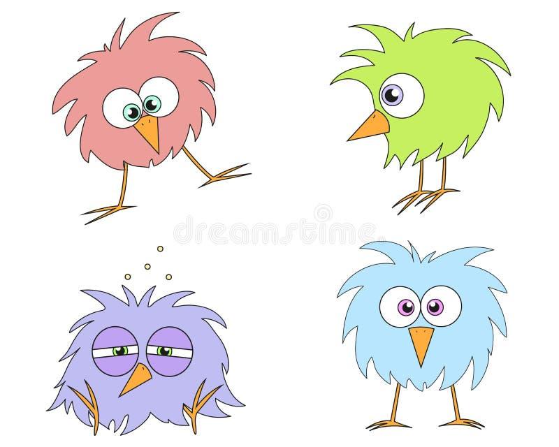 ptaki śmieszni ilustracja wektor