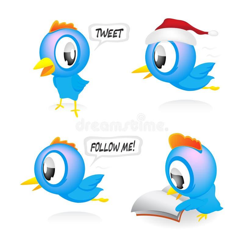 ptaki błękitny ilustracja wektor