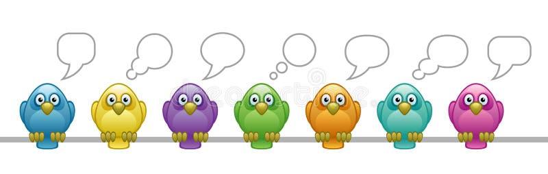 ptaki barwiący ilustracji