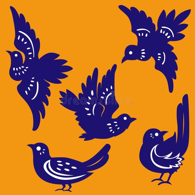 ptaki ciący papieru wektor ilustracja wektor