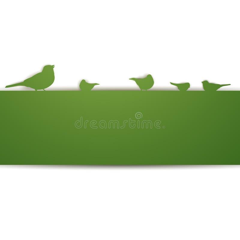 Ptaki na ścianie ilustracji