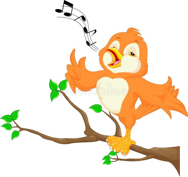 ptasi śliczny śpiew ilustracji