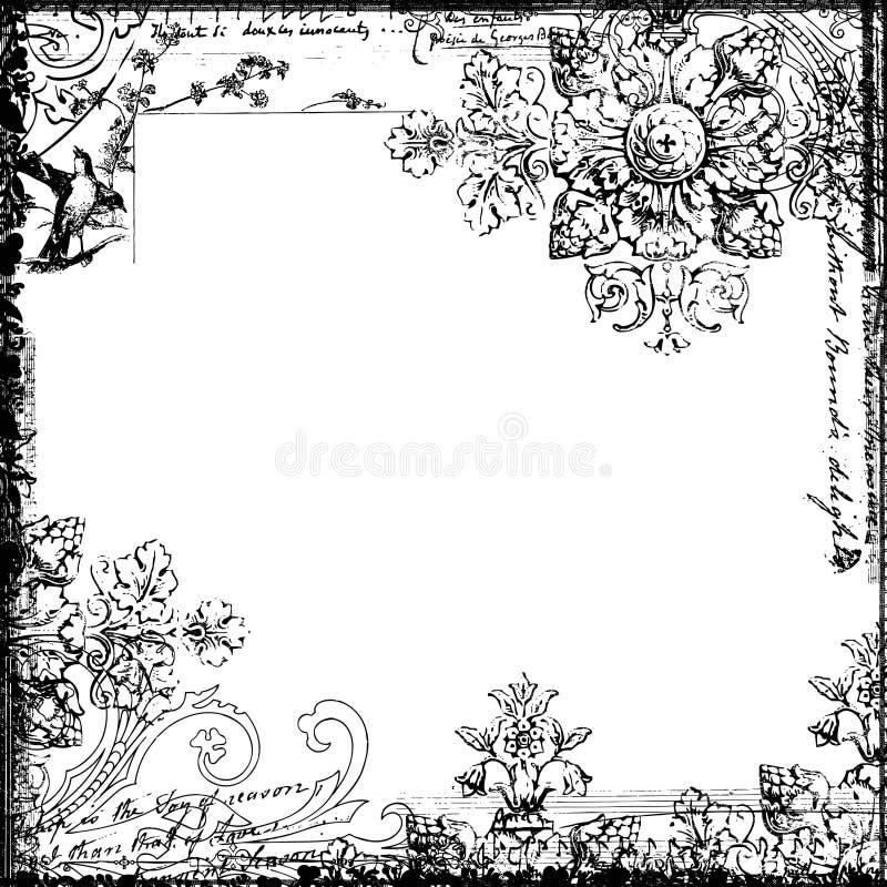 ptasi dekoracyjny kwiecisty ramy stylu rocznik