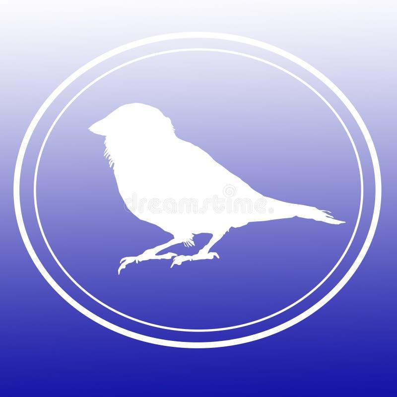 Ptasi Domowego wróbla wizerunku tła logo sztandar royalty ilustracja