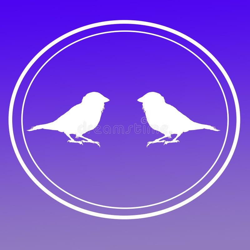Ptasi Domowego wr?bla wizerunku t?a logo sztandar ilustracji