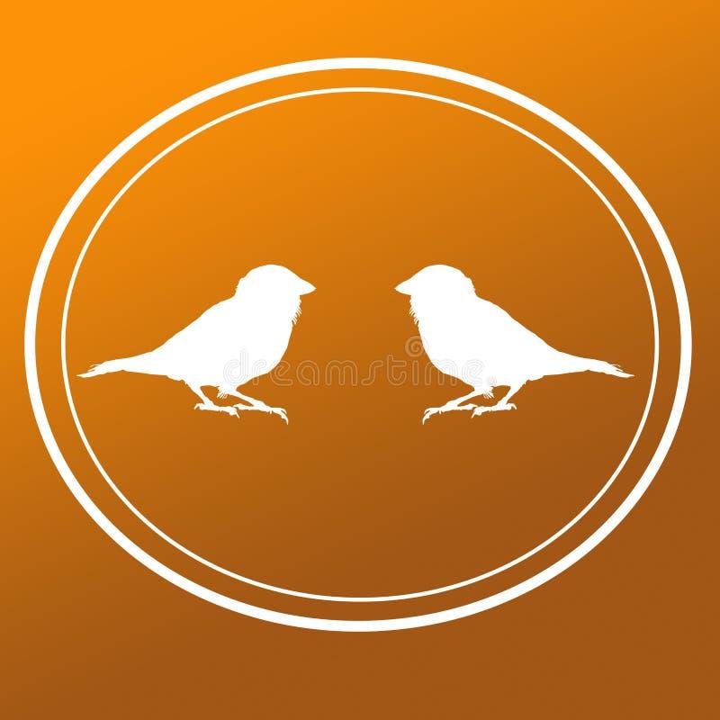 Ptasi Domowego wr?bla wizerunku t?a logo sztandar royalty ilustracja