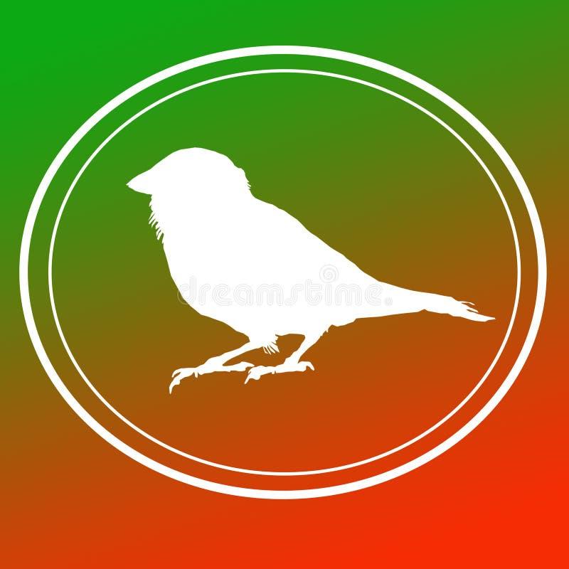 Ptasi Domowego wr?bla wizerunku t?a logo sztandar ilustracja wektor