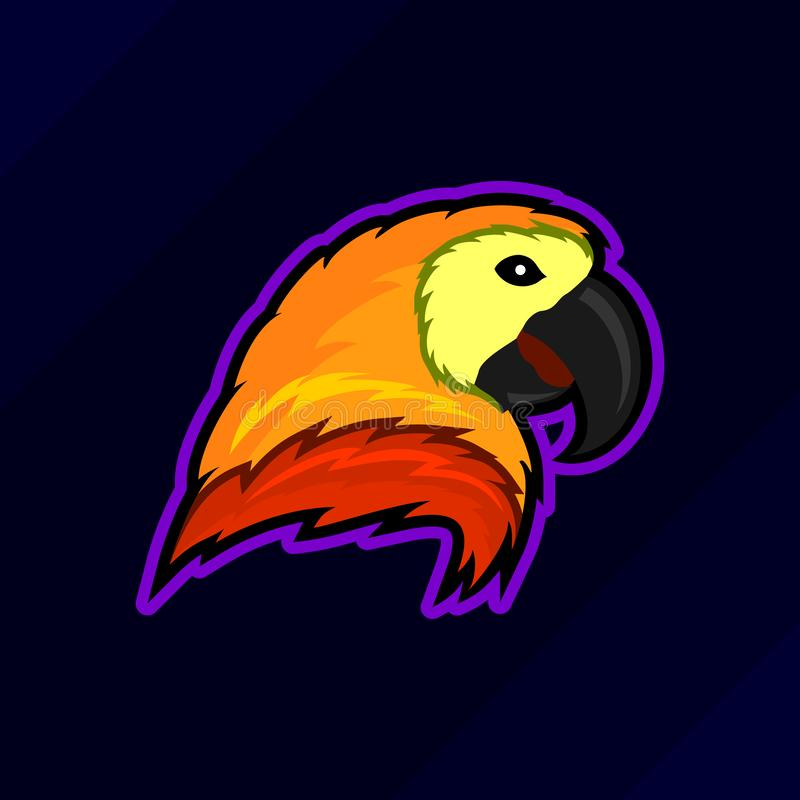 Ptasi ducha esport hazardu maskotki logo ilustracji