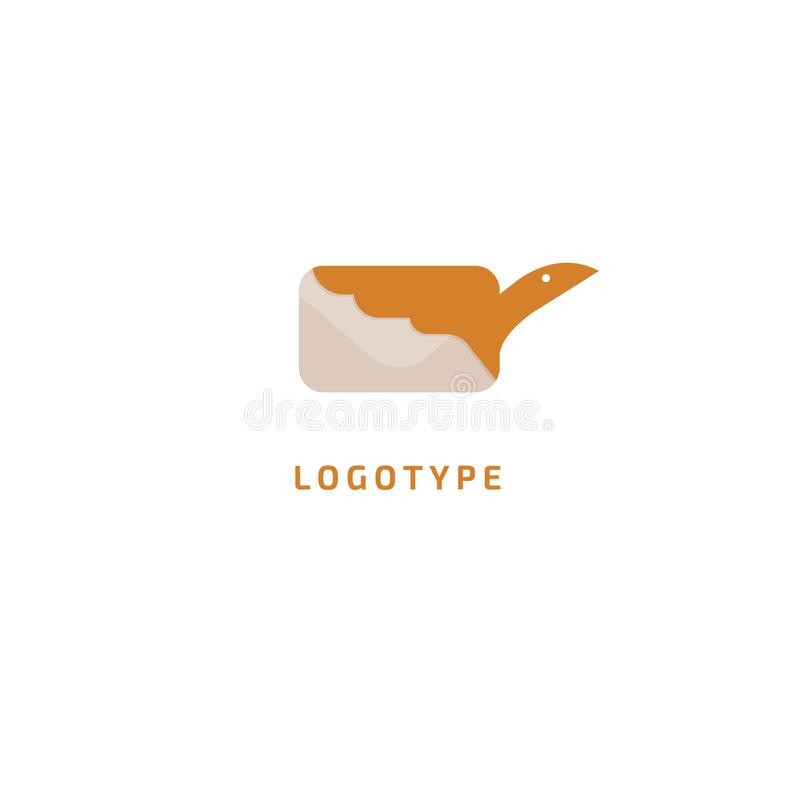 Ptasi i kopertowy logo Wektorowa abstrakcjonistyczna minimalistic ilustracyjna latająca poczta Gołębia ikona Email, wysyła dokume ilustracji