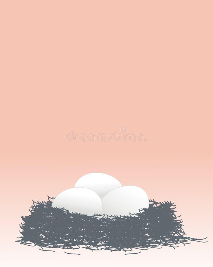 ptasi jajka gniazdowy s ilustracji