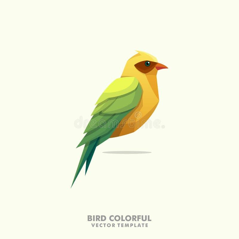 Ptasi Kolorowy ilustracyjny wektorowy projekta szablon ilustracja wektor