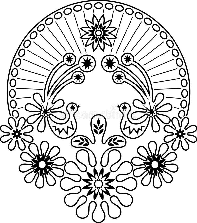 ptasi kwiat royalty ilustracja
