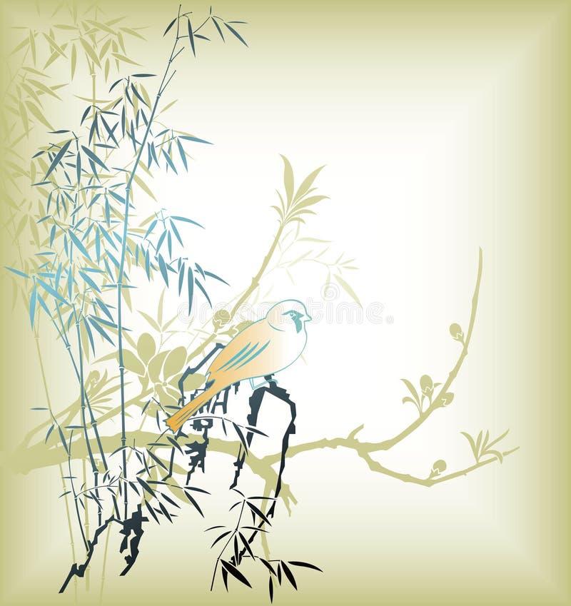 ptasi orientalny drzewo ilustracji