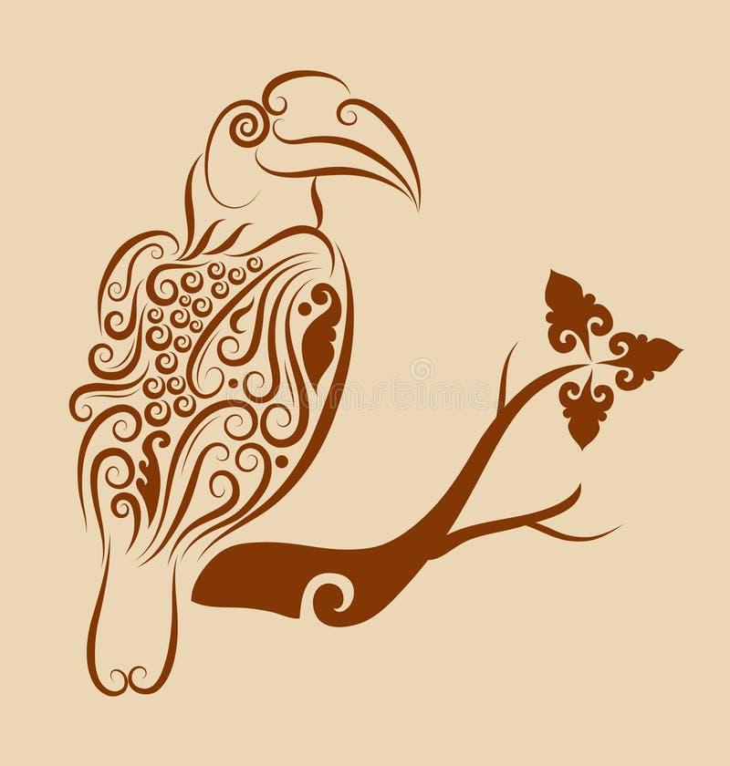 Ptasi ornament 01 royalty ilustracja