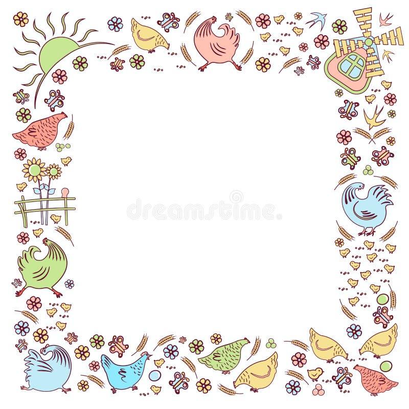 Ptasi wektorowy jard ilustracja wektor