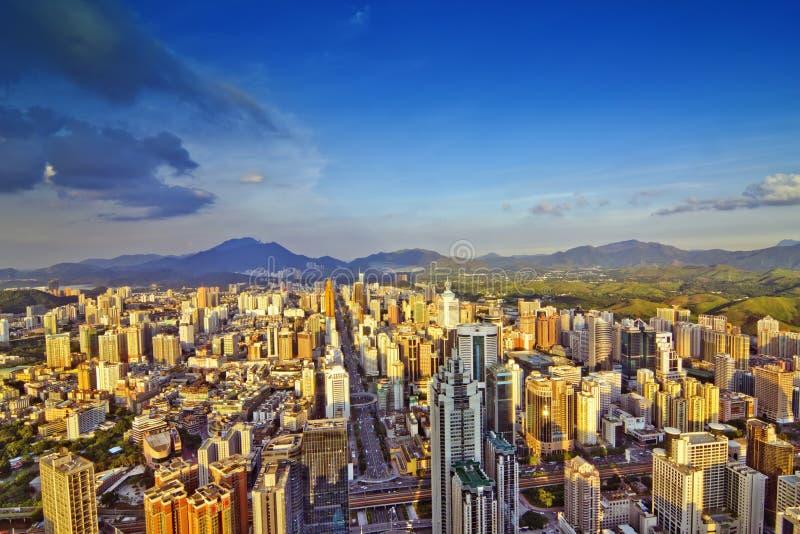 Chiński miasto obrazy royalty free