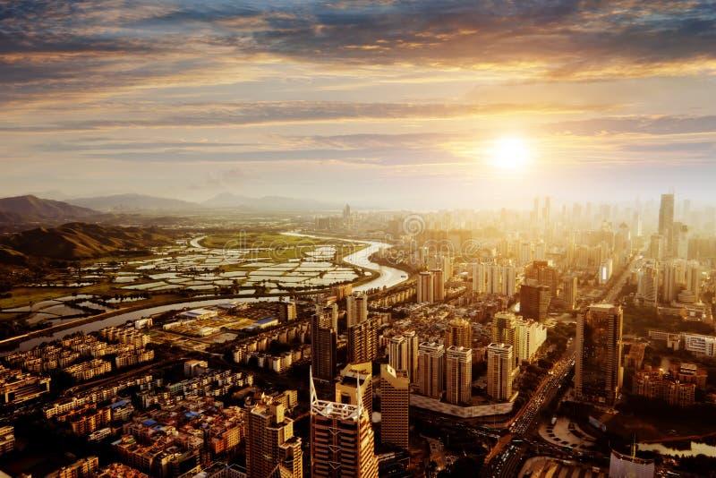 Chiński miasto obraz stock
