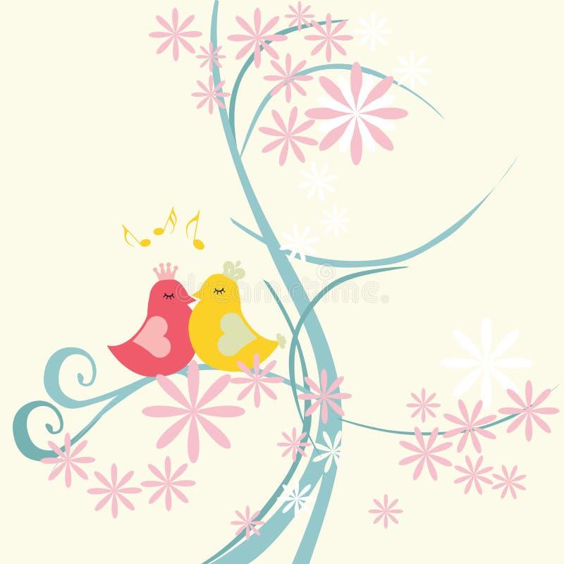 ptasia miłość royalty ilustracja