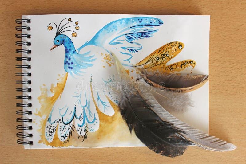 Ptasia pawia ilustracja ilustracja wektor