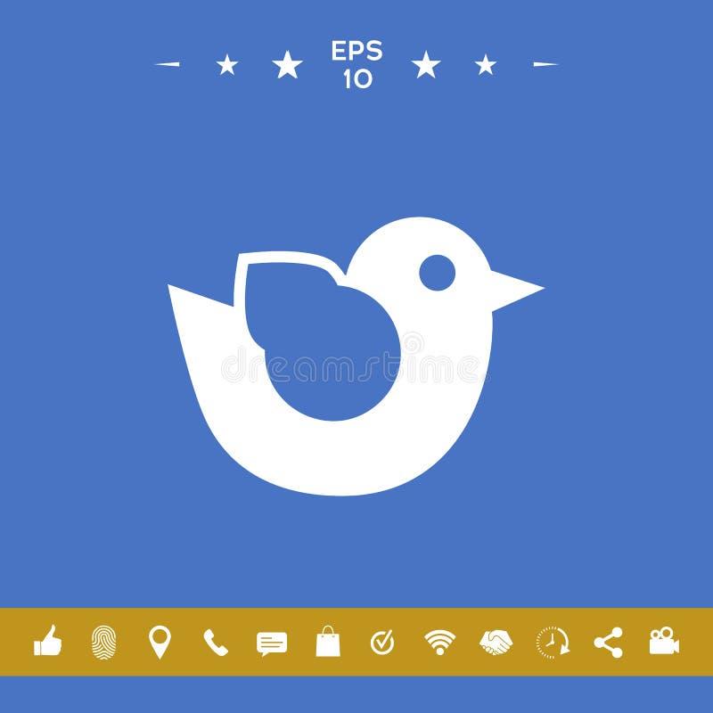Ptasia symbol ikona ilustracji