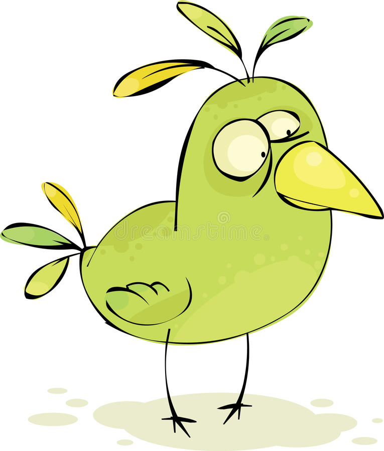 Download Ptasia szalona zieleń ilustracja wektor. Obraz złożonej z siedzi - 14430244
