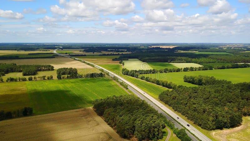 Ptasia widok autostrada w Niemcy fotografia stock