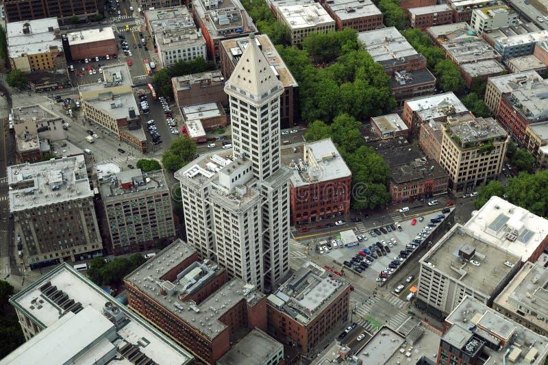 Ptasie oczy Smitha Tower Washington USA zdjęcie royalty free